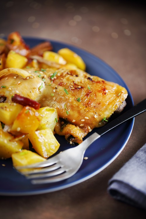 poulet-chorizo-panais