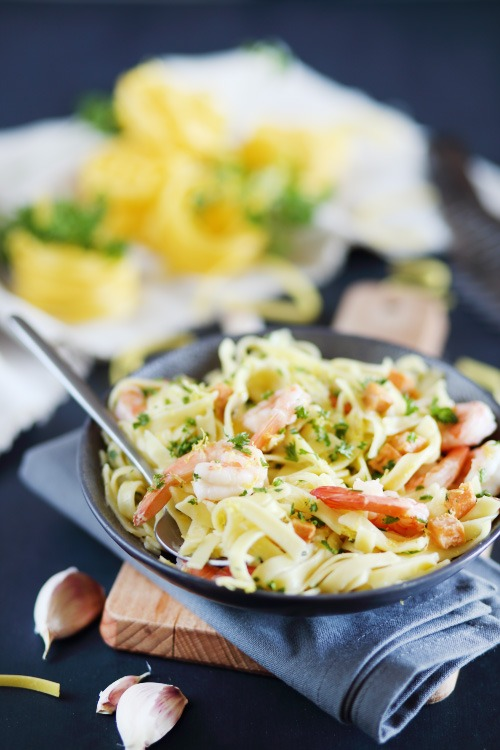 tagliatelles-crevettes-ail3